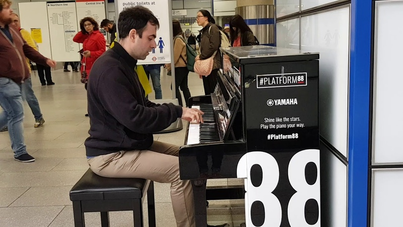 Sia Titanium piano cover by Anton Svetlichny London Tottenham Court Road