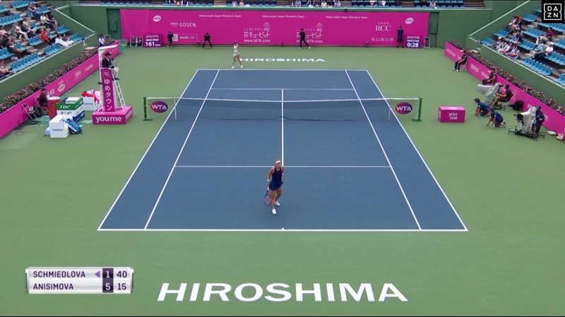 WTA Хиросима 2018. Четвертьфинал. Анна Шмидлова (Словакия) - Аманда Анисимова (США). 14.09.2018