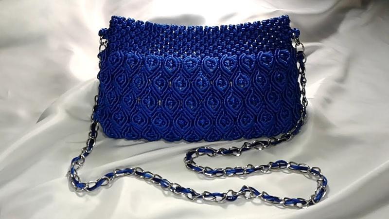 Tas macrame Biru buat Main Having Fun Blue Bag Macrame
