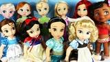 Disney Animator's Collection Dolls Unboxing - Princess Ariel, Belle, Snow White, Elsa, Anna, Jasmine