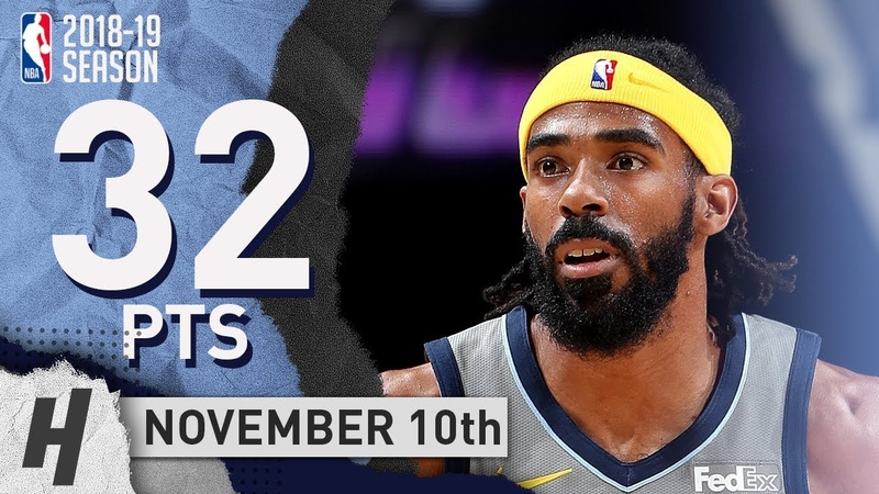 Mike Conley Full Highlights Grizzlies vs 76ers 2018.11.10 - 32 Pts, 6 Ast, 4 Rebounds!