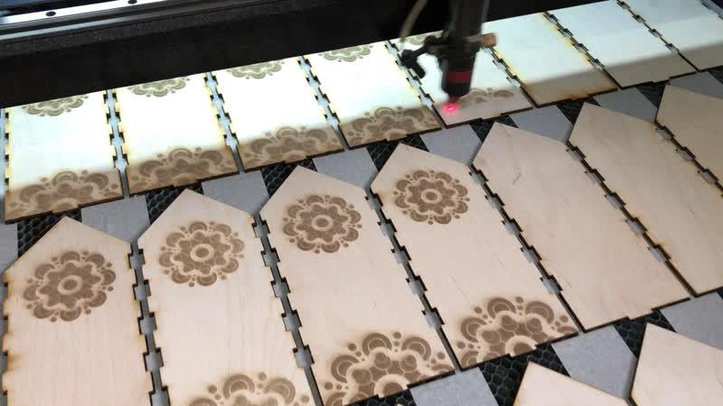 Производство упаковки из дерева.