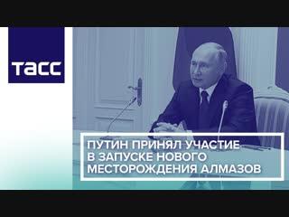 Путин принял участие в запуске нового месторождения алмазов