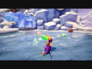 Spyro - slipping. sliding. icy peak.