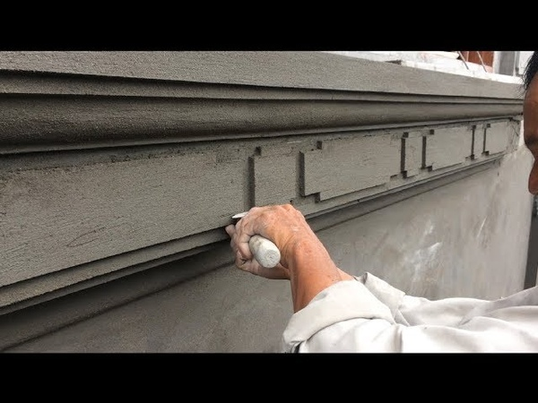Amazing Cement Working You Need Know | Beautiful Art Rendering Sand And Cement On Wall Concrete