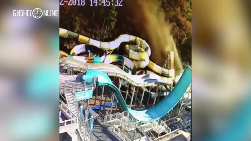 В Ялте самосвал упал с обрыва на аквапарк