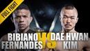 ONE: Full Fight   Bibiano Fernandes vs. Dae Hwan Kim   Over In A Flash   December 2014