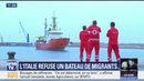 L'Italie et Malte refusent de recevoir un navire avec plus de 600 migrants
