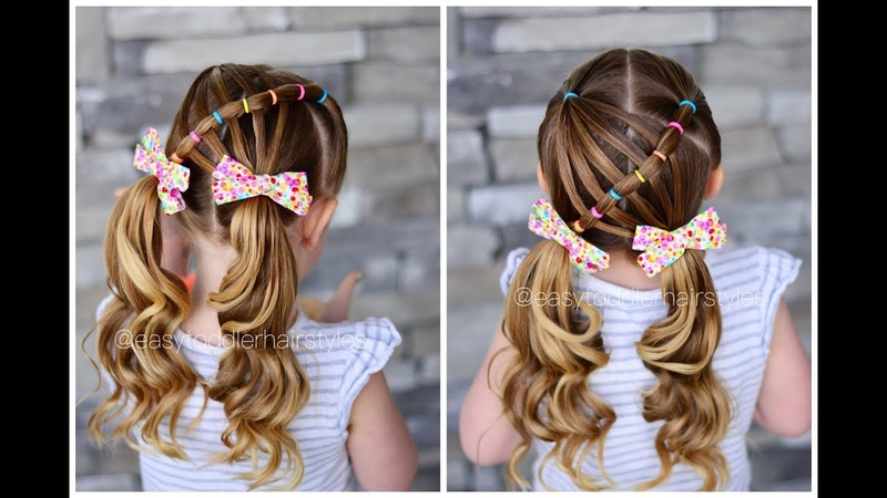 Elastic Feathered Pull Through Hairstyle