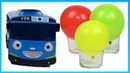Learn english color with Tayo slime Paw Patrol toys balloons