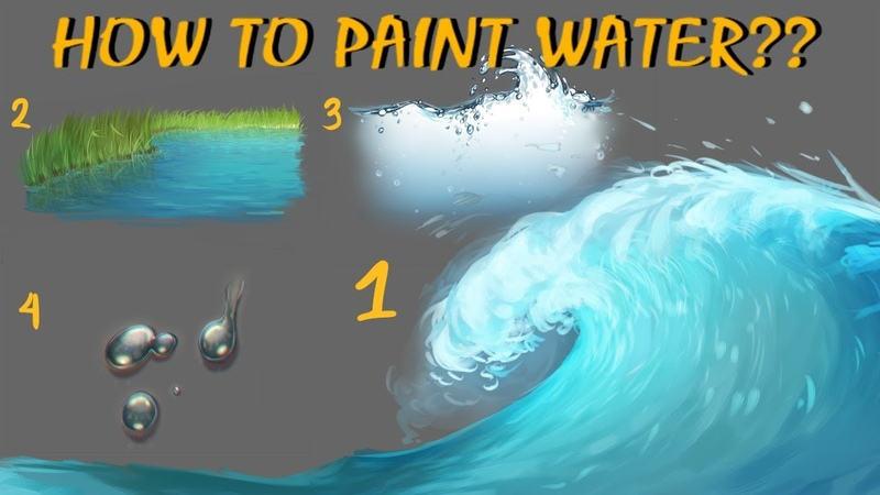 Water Tutorial - Waves, Lakeside, Cross section, Droplet - by theCecile