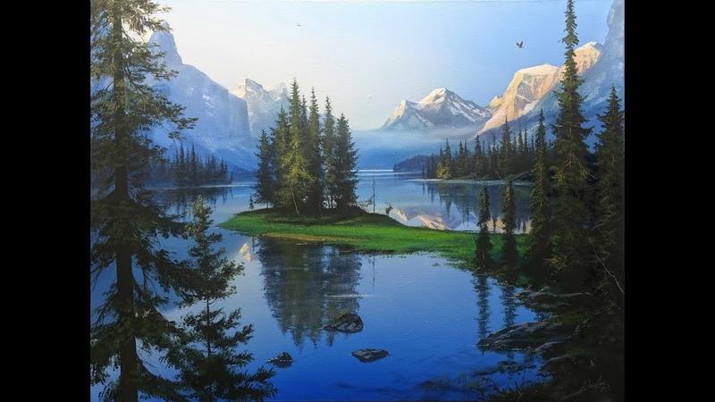 Jasper National Park Canada. Художник Юшкевич Виктор Н.
