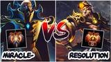 RANK 3 Miracle- Invoker vs RANK 25 Resolut1on Monkey King Dota 2 - Battle of High MMR Players