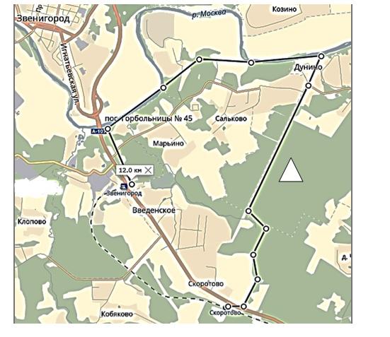 план маршрута похода