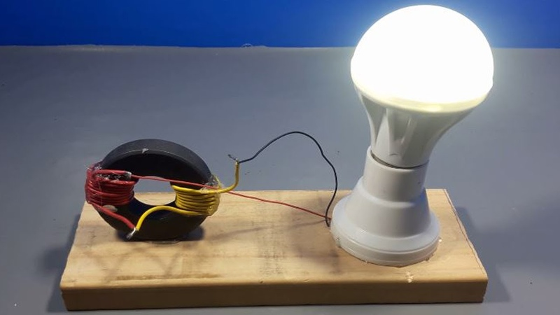 Free energy generator with light bulbs using magnets|simple science projects at home