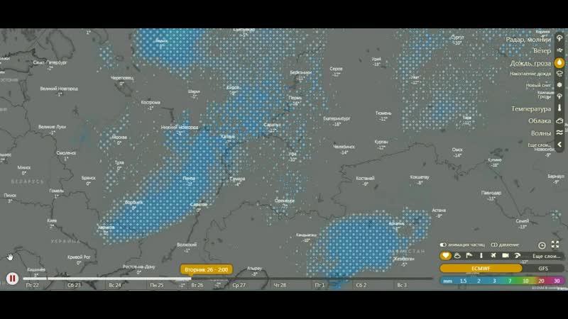Предварительный прогноз погоды с 22. 02. - 1.03. 2019г .