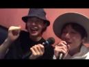 Takuya Ide and Kei Hosogai in karaoke