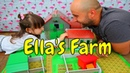 Unpacking Toy Farm for Kids with Daddy | Funny time with Daddy