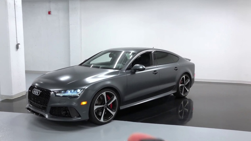 2017 Audi RS7 MATTE DAYTONA GREY - Revs Walkaround in 4k