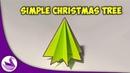 Простая ёлка Оригами Инструкция