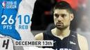 Nikola Vucevic Full Highlights Magic vs Bulls 2018.12.13 - 26 Points, 10 Reb