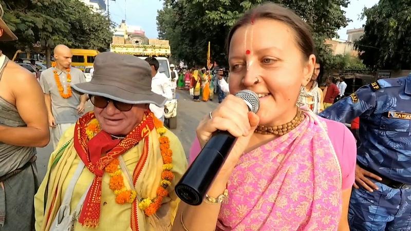 Нектарная Ратха Ятра в городе Палвал