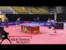 Training With OVTCHAROV Dimitrij and BOLL Timo Private Record @ WORLD CUP 2017 TABLE TENNIS