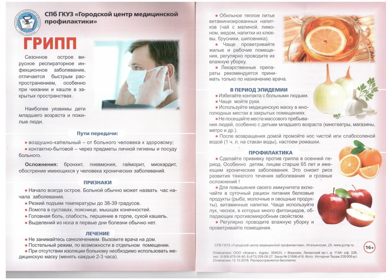 Открытка профилактика гриппа
