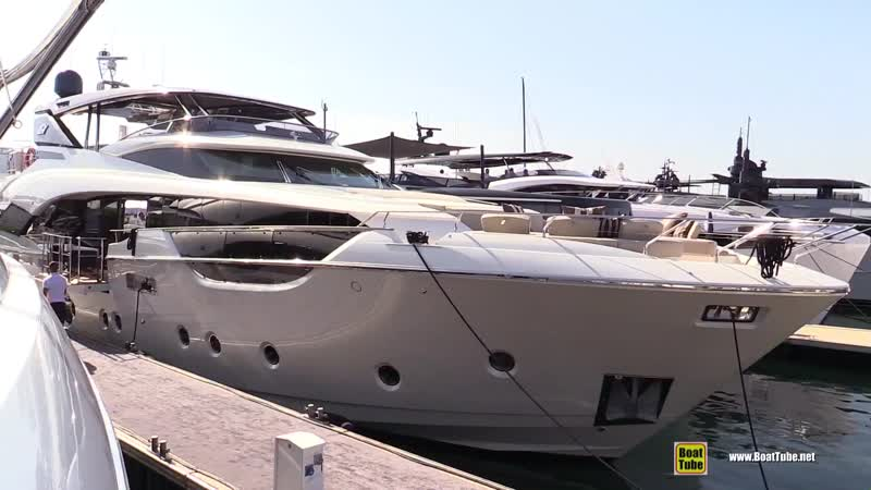 2019 Monte Carlo Yachts 96 Super Yacht - Deck and Bridge Walkaround - 2018 Cannes Yachting Festival