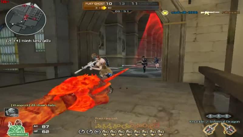 [Thủ lĩnh Cận chiến] CF - Cận chiến Fury Ghost và Cứu Ghost - Nhi có 1 con mắt nhìn thấy Ma
