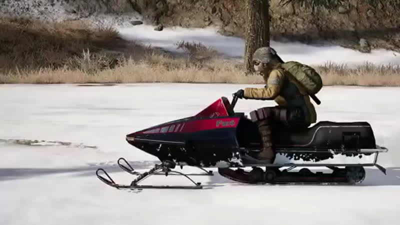 G36C Assault Rifle and Snowmobile Vehicle