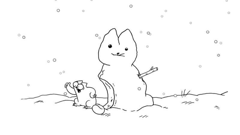 Simon's Cat кот саймона зимние серии