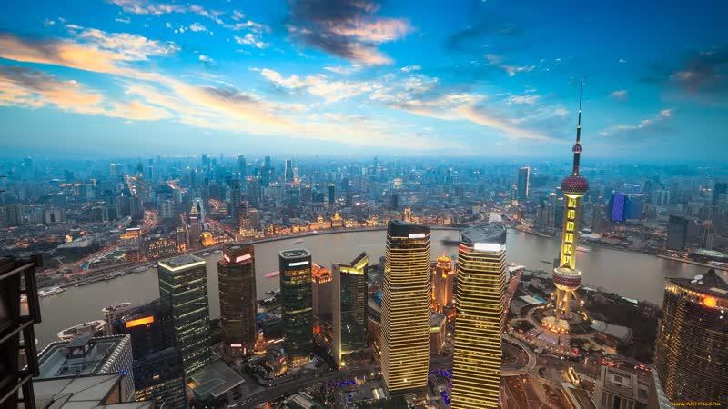 Шанхай (Китай) Кругосветка 2008 год т/х М.Горький