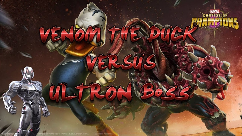 Venom the Duck Vs Ultron 5 act Boss Marvel contest of champions Mcoc Mbch