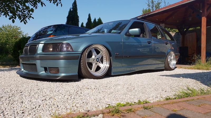 Bagged BMW E36 Touring M52B25 Airride suspension