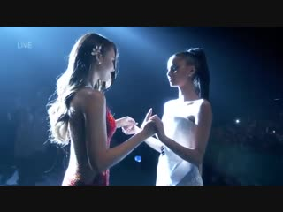 The winning moment. Philippines' Catriona Gray