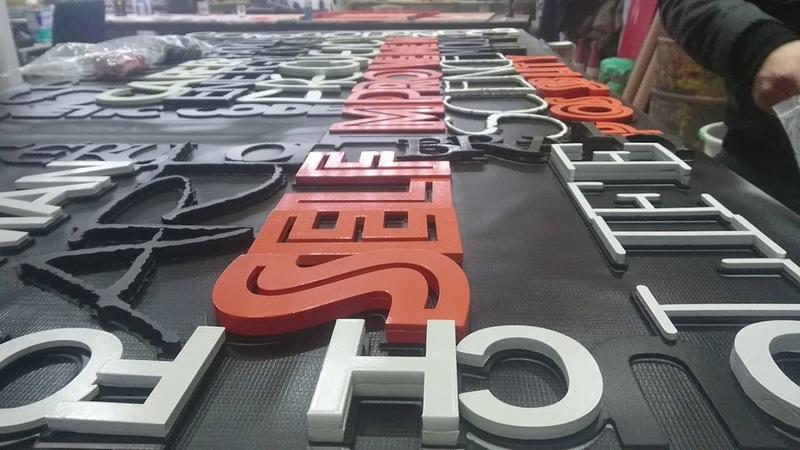 Dekoratif Harf Duvar Uygulama - Harf Örnekleri - Ofis Duvar Modelleri - Özel Harf Lazer Kesim