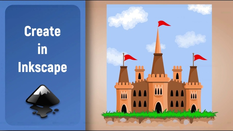 Inkscape Speed Art: Vector Fairytale Castle