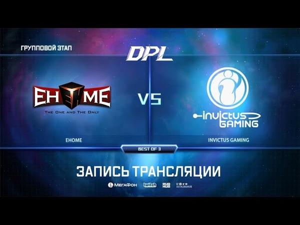 EHOME vs Invictus Gaming, DPL Season 6 Top League, bo3, game 2 [Inmate GodHunt]