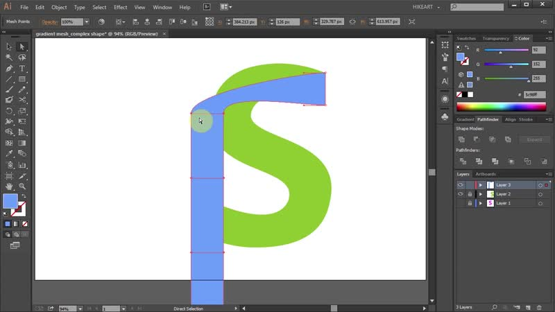 [3][119.50 F] how to use the mesh tool in adobe illustrator complex shapes part 2