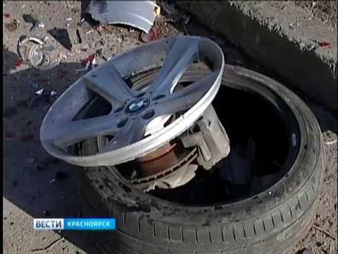 В Красноярке на улице Дубровинского произошло серьезное ДТП