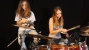 Honky Tonk Women Rolling Stones Sina feat Milena on drums