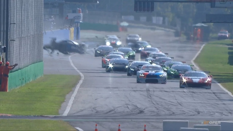 International GT Open 2018. Race 2 Autodromo Nazionale Monza. Final Lap | Huge Crash
