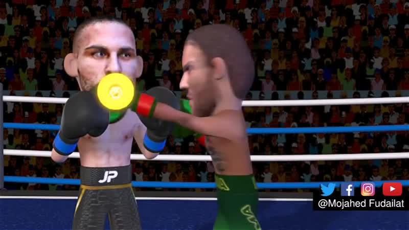 Vasiliy Lomachenko vs Jose Pedraza Highlights 3D анимация