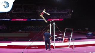 Ksenia KLIMENKO (RUS) - 2018 Artistic Gymnastics European Champion, junior bars