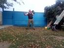 Трастер с гирями Правая рука двойная гиря 48 кг Левая 46кг 36 10кг
