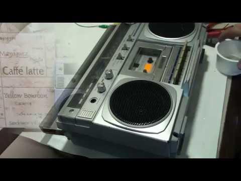 Теперь почти новый японский магнитофон TOSHIBA RT 100S ремонт и восстановление
