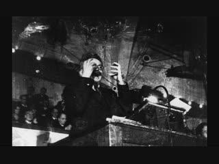 Лев Давидович Троцкий, читает лекцию в Копенгагенском университете (Дания, Ноябрь 1932 года.)