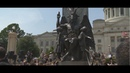 Satanic Temple statue 8 feet tall Bophomet statue unveiled at the Arkansas State Capitol