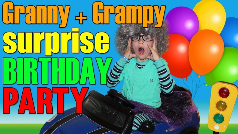 Grannys 100th Birthday Party -Twins Playtime Skit